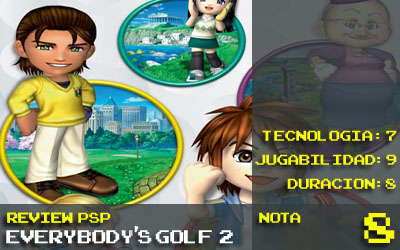 Nota Everybodys Golf PSP 8