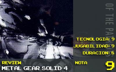 MGS4 Nota 9