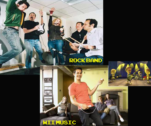 Rock Band vs Wii Music