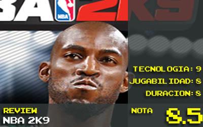 Nota NBA2k9: 8.5