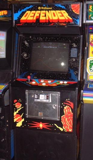 Cabina arcade de Defender