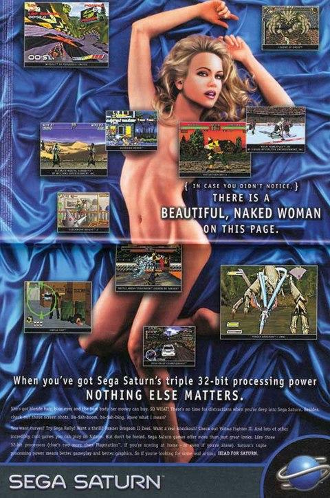 Sega Saturn y su rubia desnuda