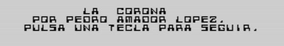 La corona - Por Pedro Amador