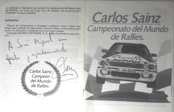 Carlos Sainz - Manual Dedicado