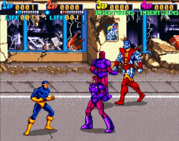 XMEN Konami Arcade