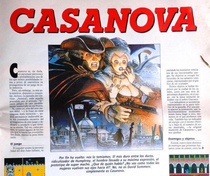 Casanova en revista Micromanía