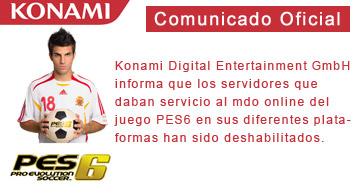 Comunicado PES6