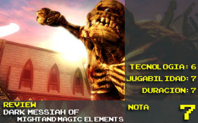 Dark Messiah of Might and Magic: Elements - Nota 7