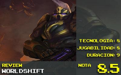 Nota Worldshift: 8.5