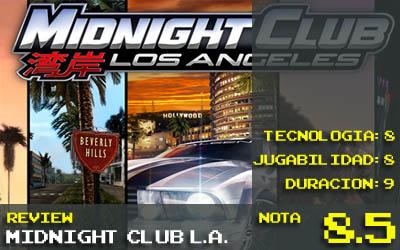 Midnight Club Los Angeles Nota 8.5