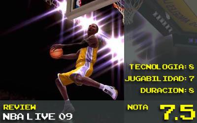 Nota NBA live 09 - 7,5