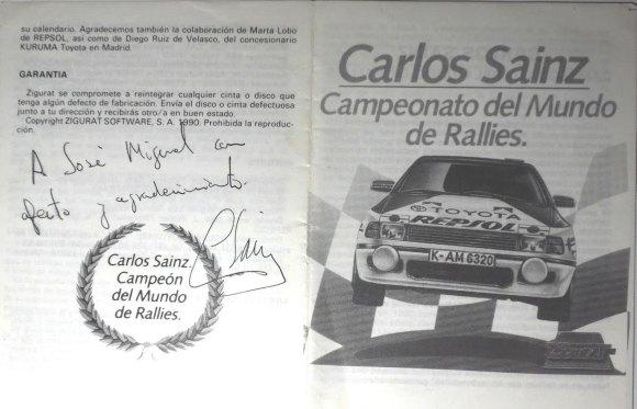 Carlos Sainz - Manual Dedicado