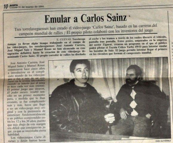 Carlos Sainz - Periódico Alerta 1991