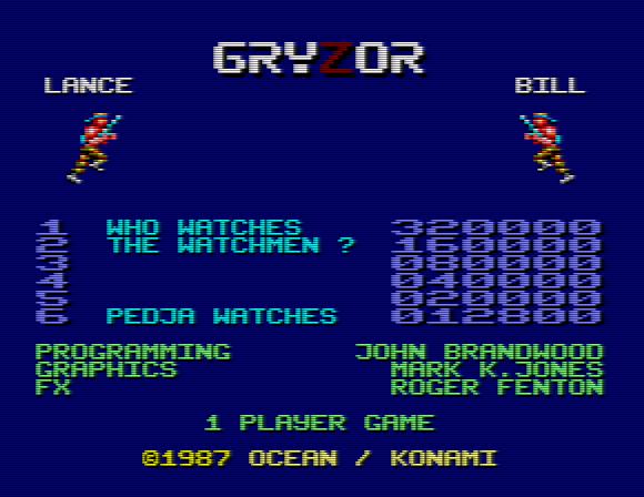 Gryzor y Watchmen