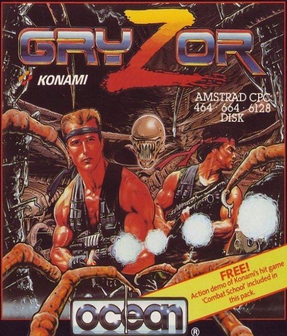 Gryzor Portada Amstrad CPC